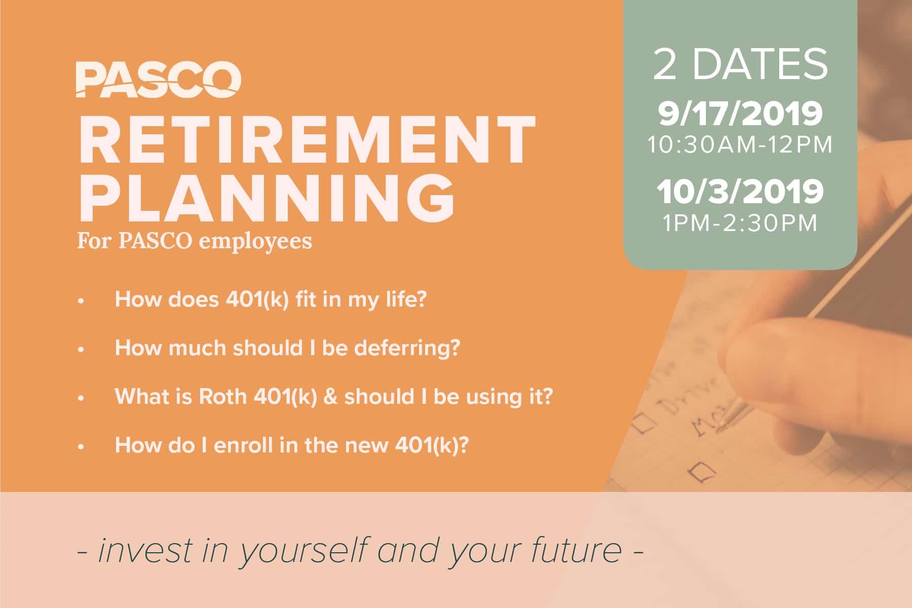 PASCO Retirement Planning Event